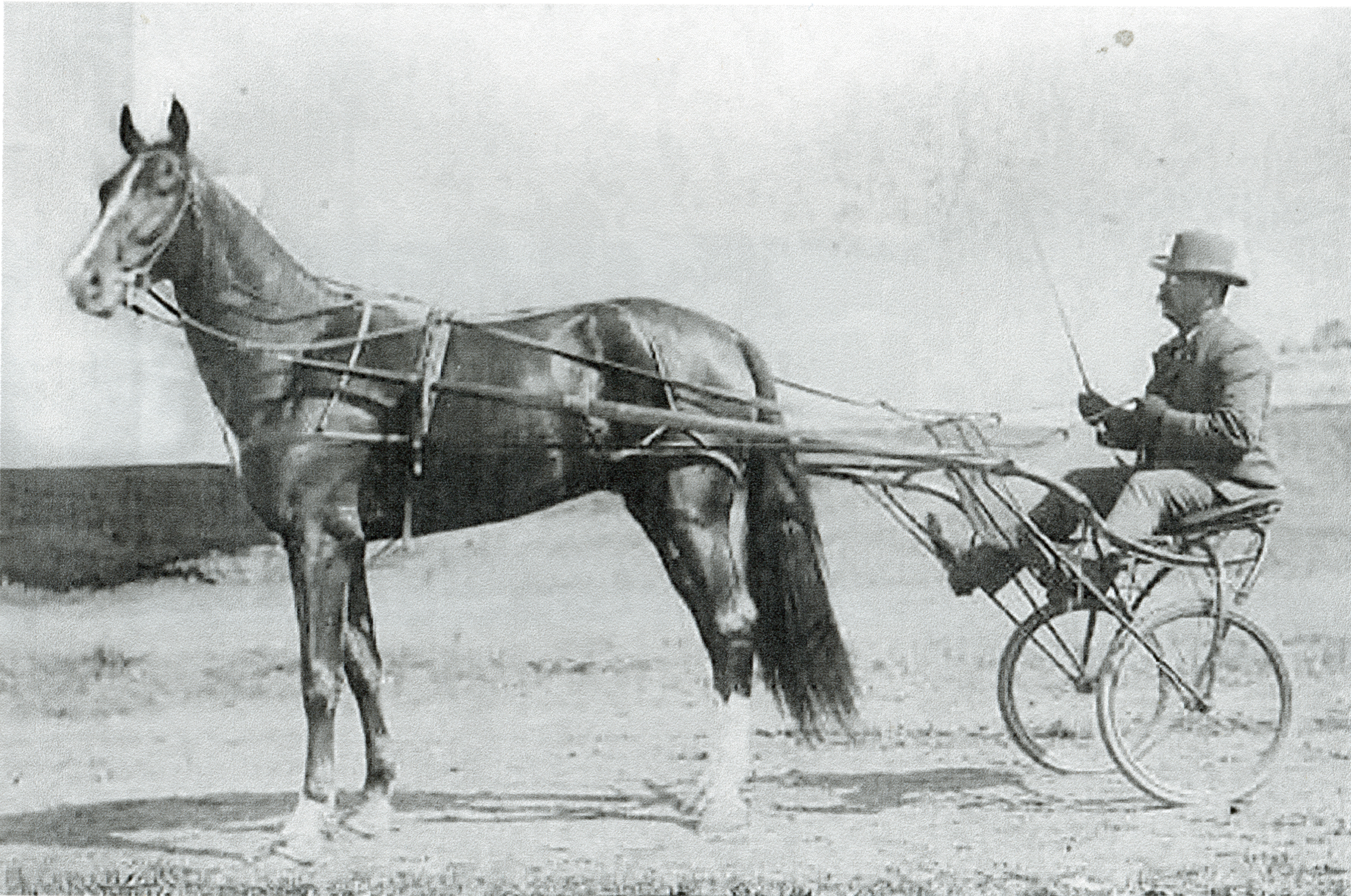Peter Stirling who won the Kentucky Futurity in 1901 with his trainer Mr. Chandler
