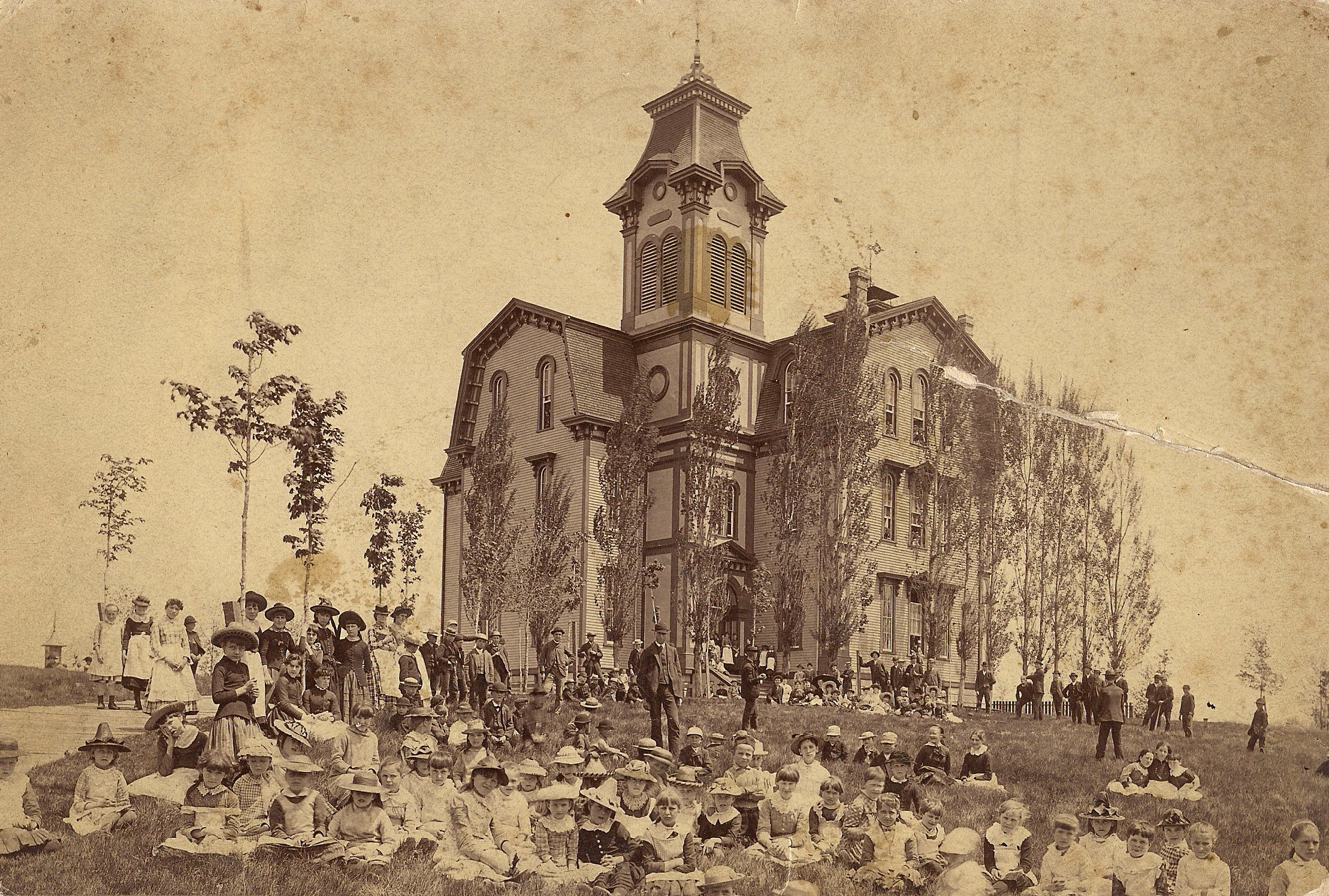 First High School 1885 Summer