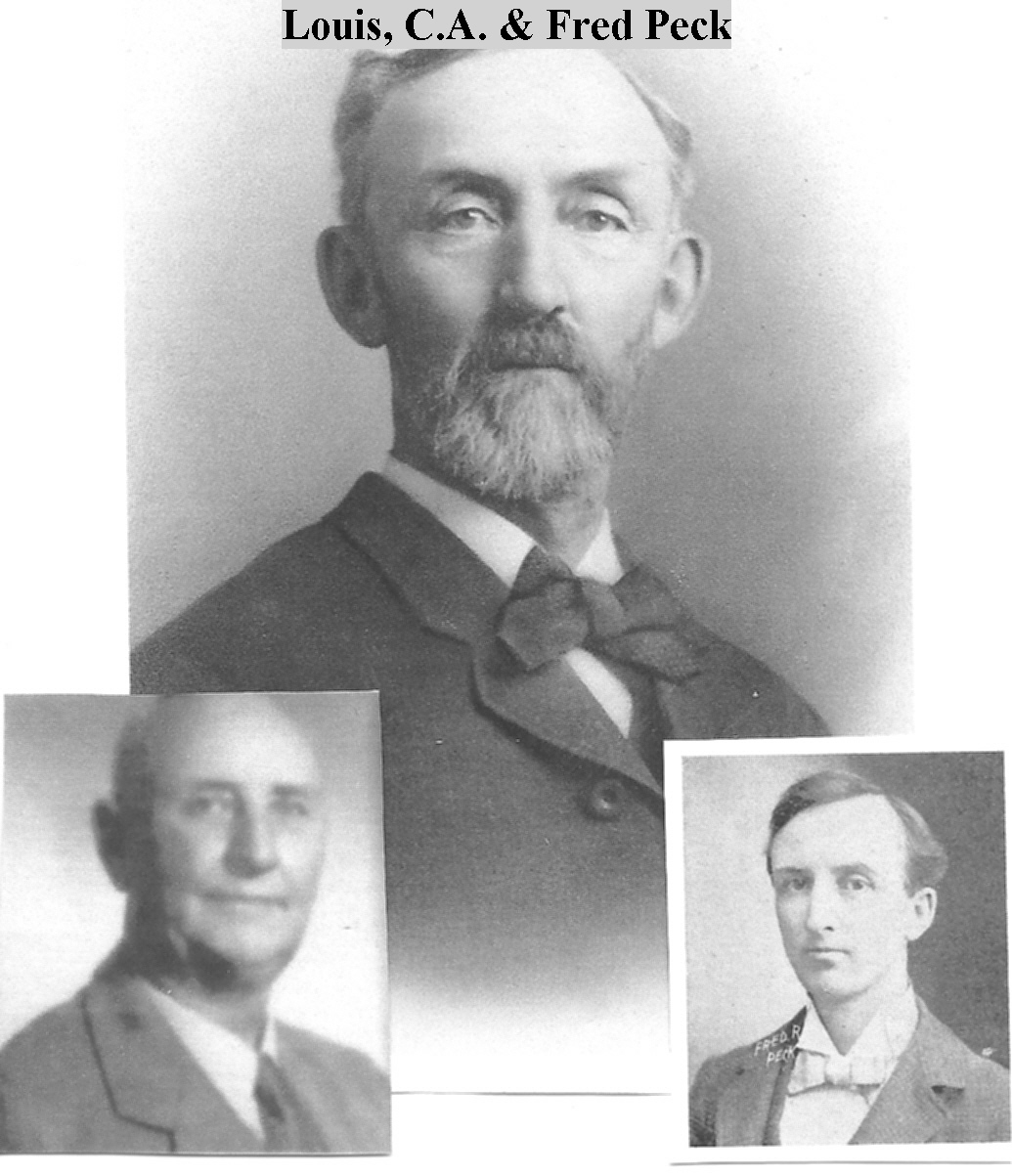 Covell A., Frederick R., & Louis C. Peck